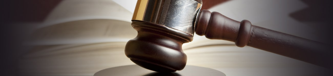 Banner picture of a gavel