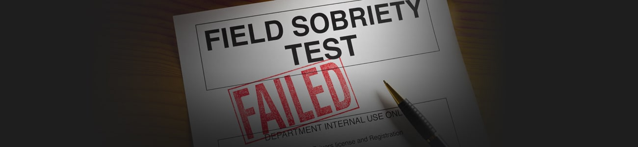 Banner picture of failed soberty test