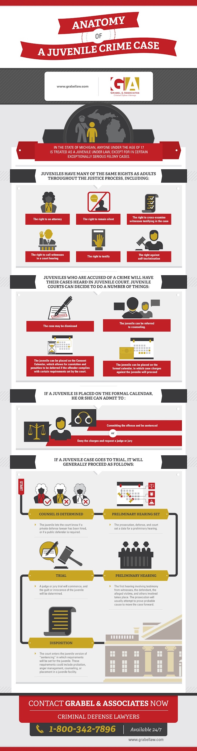 Anatomy of a Juvenile Crime Case infographic